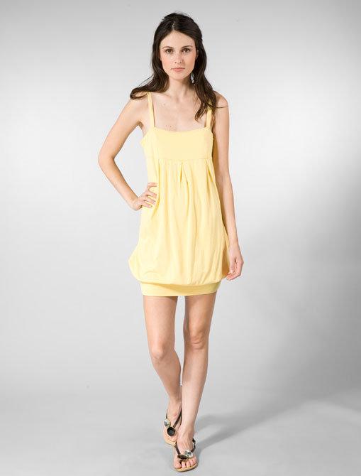 Viridis Luxe Skinny Strap Banded Dress
