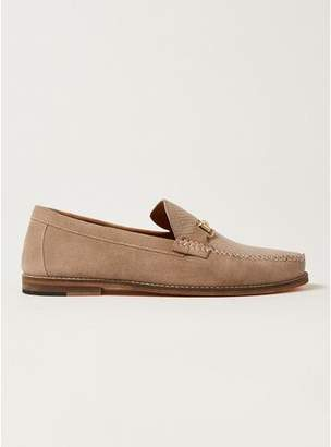 Topman Mens Pink Suede Larry Snaffle Loafers