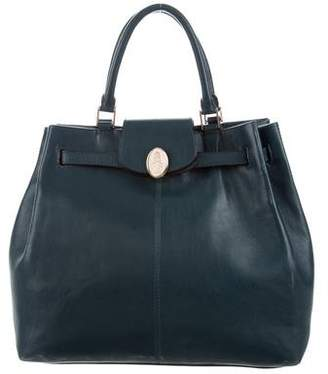 Mark Cross Pleated Leather Tote