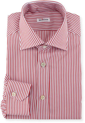 Kiton Striped Dress Shirt, Pink