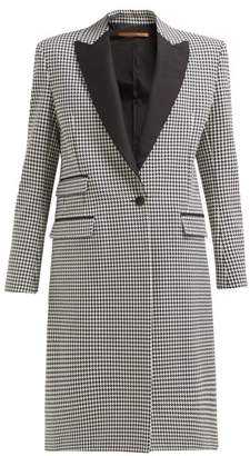 45eef123b6be Summa - Houndstooth Single Breasted Cotton Coat - Womens - Black White
