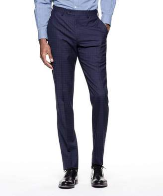 Todd Snyder Black Label Sutton Suit Pant in Italian Navy Windowpane Tropical Wool