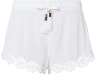 Heidi Klein Crochet Trim Tassel Shorts