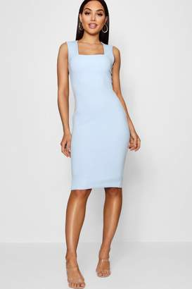 boohoo Square Neck Sleeveless Midi Dress
