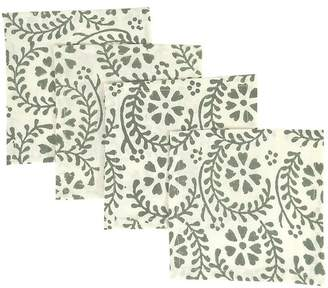 India Amory Sage Fleur Provencale Napkin - Set Of 4