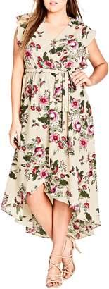 City Chic Lolita Floral High/Low Maxi Dress