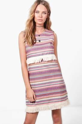 boohoo Lucia Aztec Navaho Shift Dress