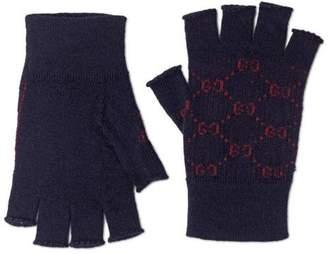 Gucci GG alpaca wool fingerless gloves