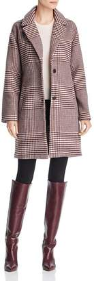 Bernardo Notched Collar Plaid Coat