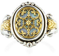 Konstantino Hestia Cutout Mother-of-Pearl Oval Ring