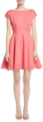 Kate Spade Cutwork Fiorella Eyelet-Trim Dress