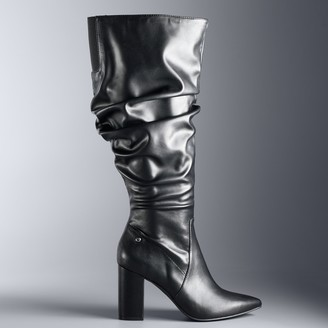 4a44c1f9b9b Vera Wang Simply Vera Flicker Women s High Heel Slouch Boots