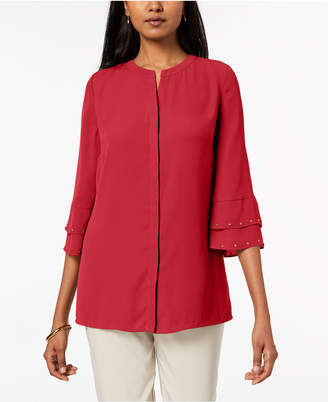 JM Collection Studded Blouse, Created for Macy's