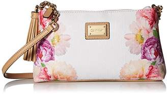 Calvin Klein Floral Printed Textured Emboss Crossbody