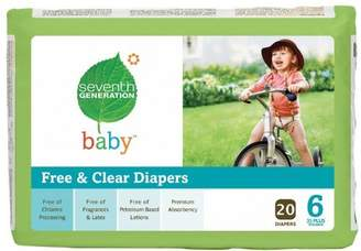 Seventh Generation B07103 7 Gen Diapers Stage 6 2000 Ct -4x20ct