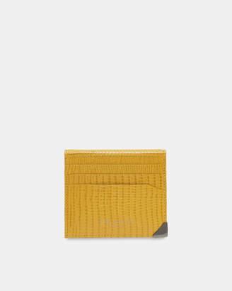 Ted Baker SHELLS Lizard-effect bi-fold leather card holder