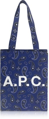 A.P.C. Paisley Printed Canvas Lou Tote Bag