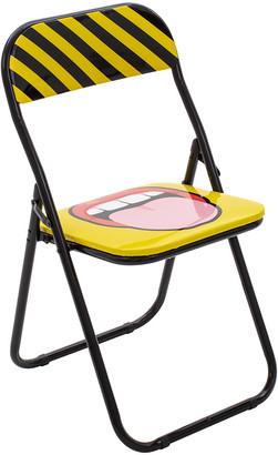 Seletti 'Blow' Folding Chair - Metal - Tounge