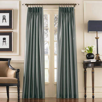 CHF Marquee Faux Silk Pinch-Pleat Back-Tab Curtain Panel