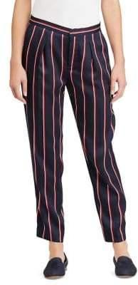 Lauren Ralph Lauren Petite Striped Twill Straight-Leg Pants