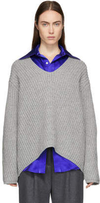 Acne Studios Grey Wool Deborah V-Neck Sweater