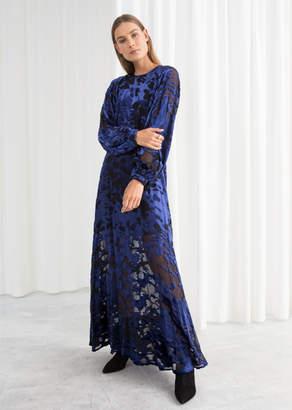 And other stories Sheer Velvet Maxi Dress