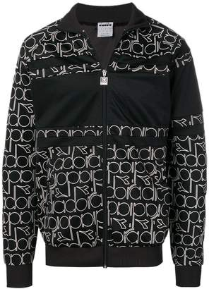 Diadora all-over logo zip sweatshirt