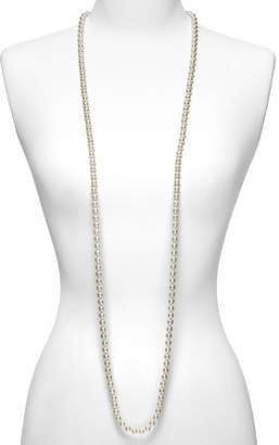Majorica Women's 8mm Round White Simulated Pearl Endless Necklace, 60""