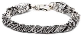 Emanuele Bicocchi Wrapped Sterling Silver Bracelet - Mens - Silver