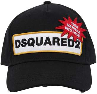 DSQUARED2 Patch Cotton Baseball Hat