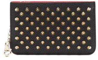 Christian Louboutin Panettone Key Ring Leather Cardholder - Womens - Black Gold