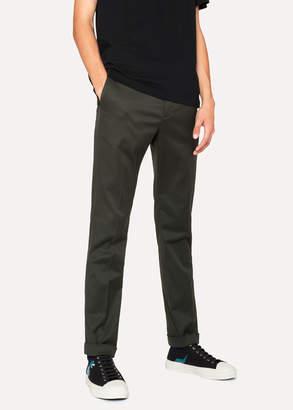 Paul Smith Men's Slim-Fit Khaki Cotton-Stretch Pants