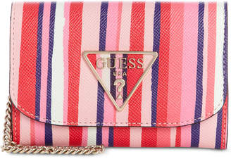 GUESS Carys Striped Double Date Wallet