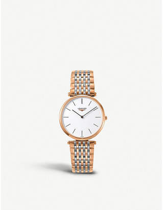 Longines L47551927 La Grande Classique rose-gold stainless steel watch