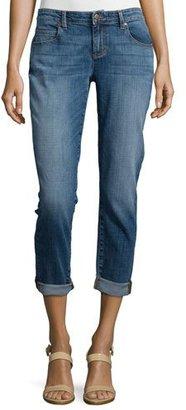 Eileen Fisher Stretch Boyfriend Jeans, Aged Indigo $178 thestylecure.com