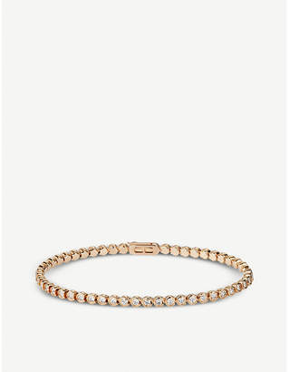 Cartier Lignes 18ct yellow-gold and diamond bracelet