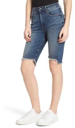 Good American The Stagger Hem Bermuda Shorts