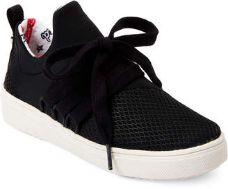 Steve Madden Kids Girls) Black Lancer Low-Top Sneakers