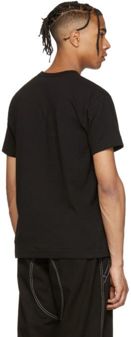 Comme des Garçons Play Black & Red Heart Patch T-Shirt 4