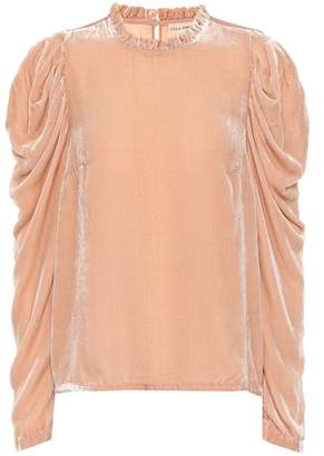 Ulla Johnson Giles velvet blouse