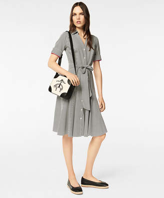 Brooks Brothers Non-Iron Dot-Print Supima Cotton Shirt Dress