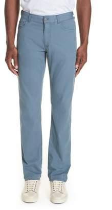 Canali Stretch Cotton & Silk Five Pocket Trousers