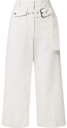 3.1 Phillip Lim Cropped Cotton-blend Wide-leg Pants - Ivory