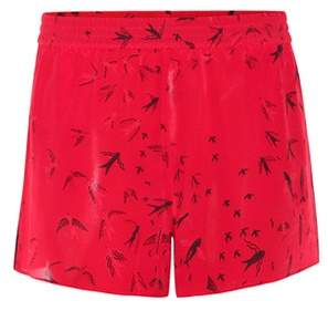 Valentino Printed silk shorts