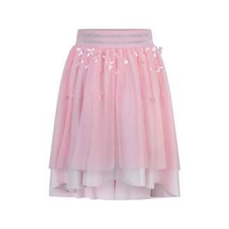 Relish RelishPink Flower Applique Tulle & Satin Skirt