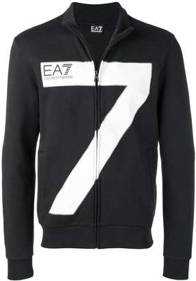 Emporio Armani Ea7 oversized 7 zipped jacket