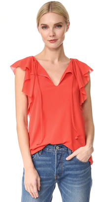 Fuzzi Short Sleeve Blouse $260 thestylecure.com