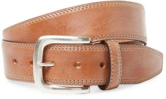 Berge Men's Distressed Belt with Silver Buckle