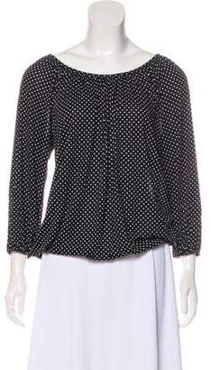 MICHAEL Michael Kors Polka Dot Long Sleeve Top