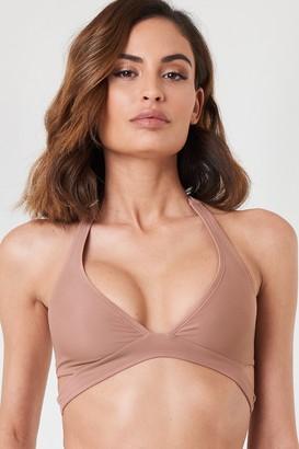 Na Kd Swimwear Cut Out Bikini Top Dusty Dark Pink